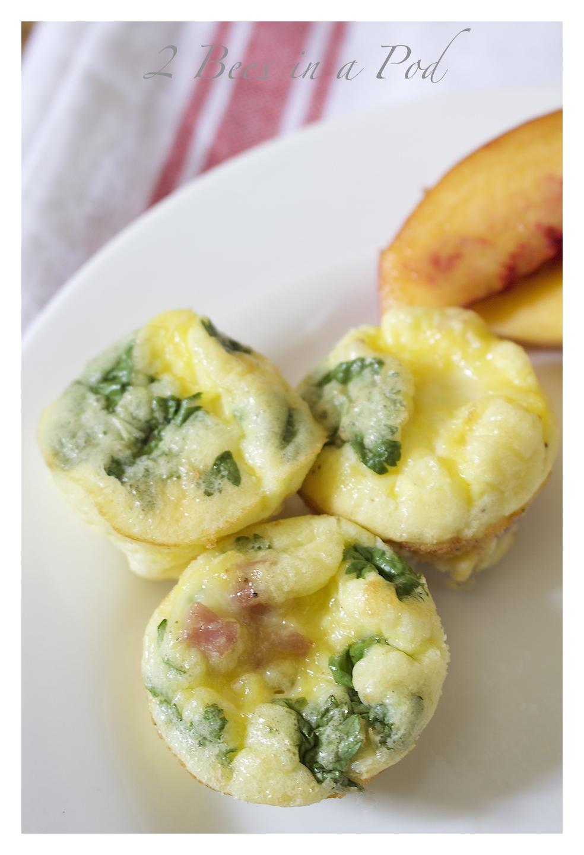 Mini Frittata - a prefect make ahead breakfast - makes 24 mini frittatas in a muffin tins