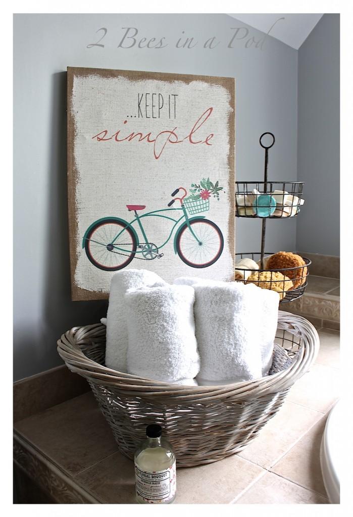 DIY Gray Washed Wicker Laundry Basket