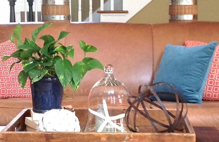 Coastal Inspired Coffee Table Decor