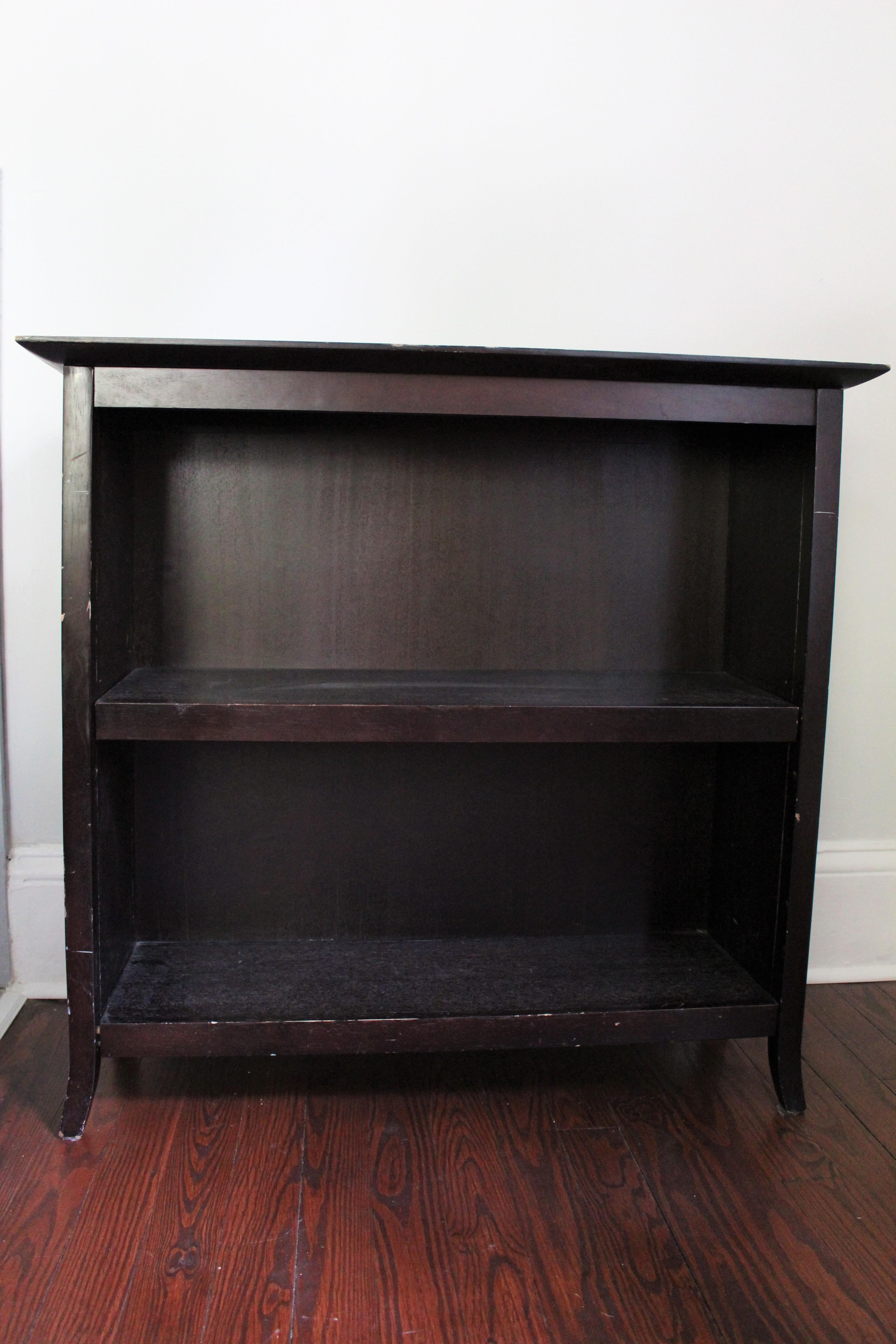 Bookcase painted in paris grey annie sloan chalk paint