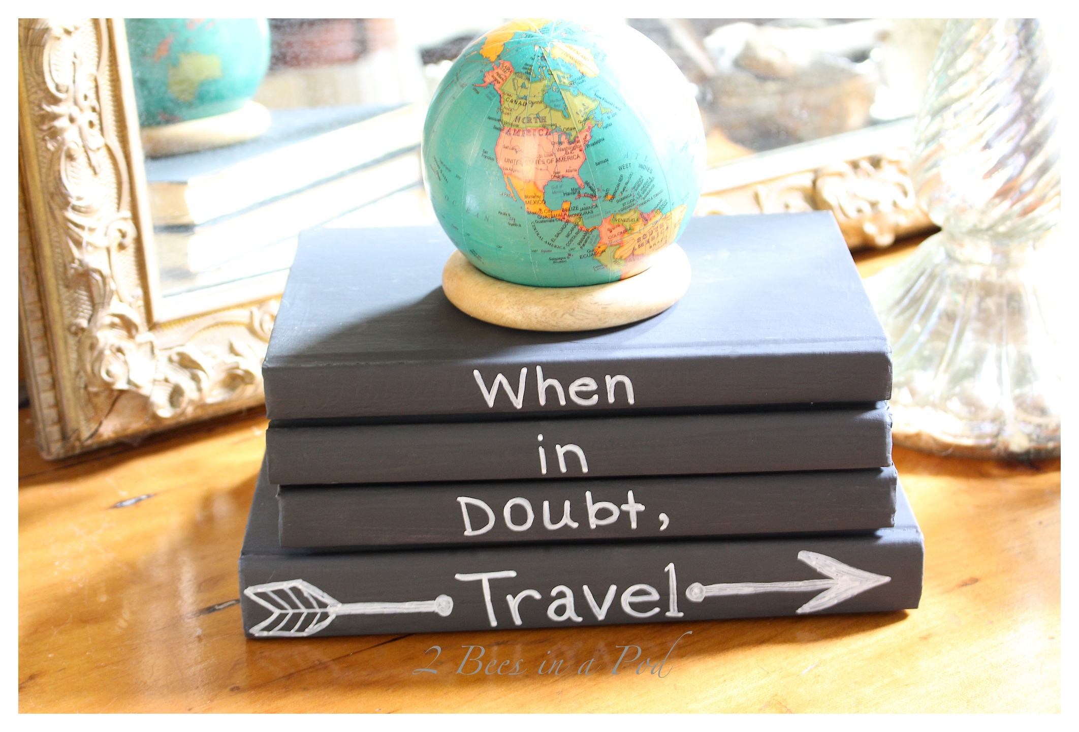 Chalk Painted Books and Favorite Quote