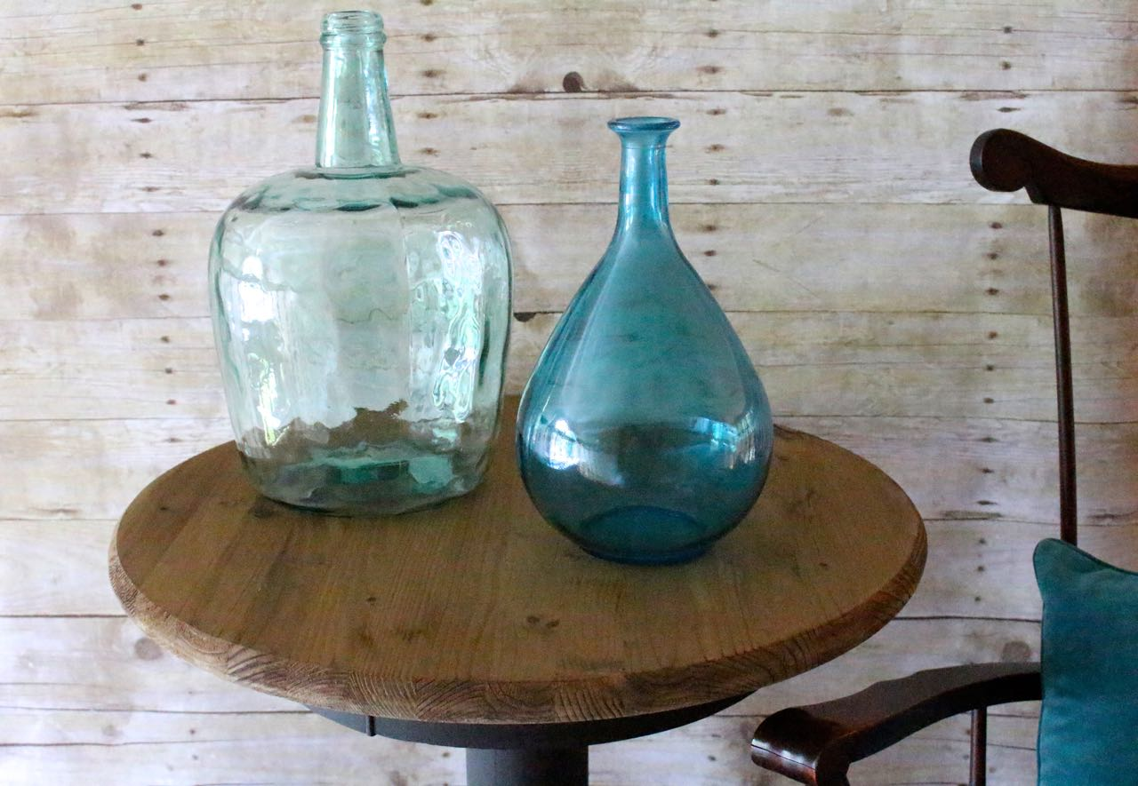 How to Make Weathered Wood Stain and a Table Makeover