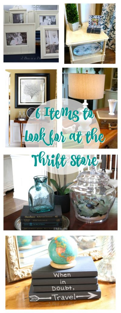 6 Items to look for at the thrift store.