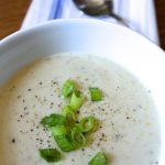 Potato Leek Soup. Perfect meal in Fall and Winter. Delicious, creamy soup.