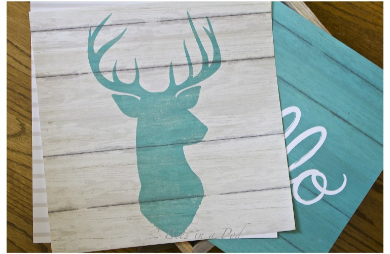 How To Make Easy Cheap Artwork with Scrapbook Paper
