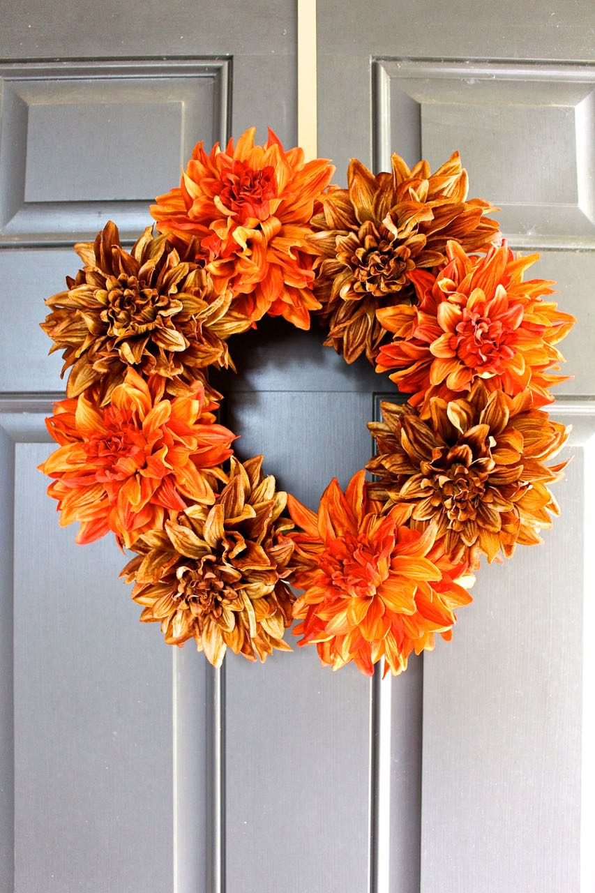 This is one of the easiest crafts we have done. This DIY Fall Wreath literally took five minutes.