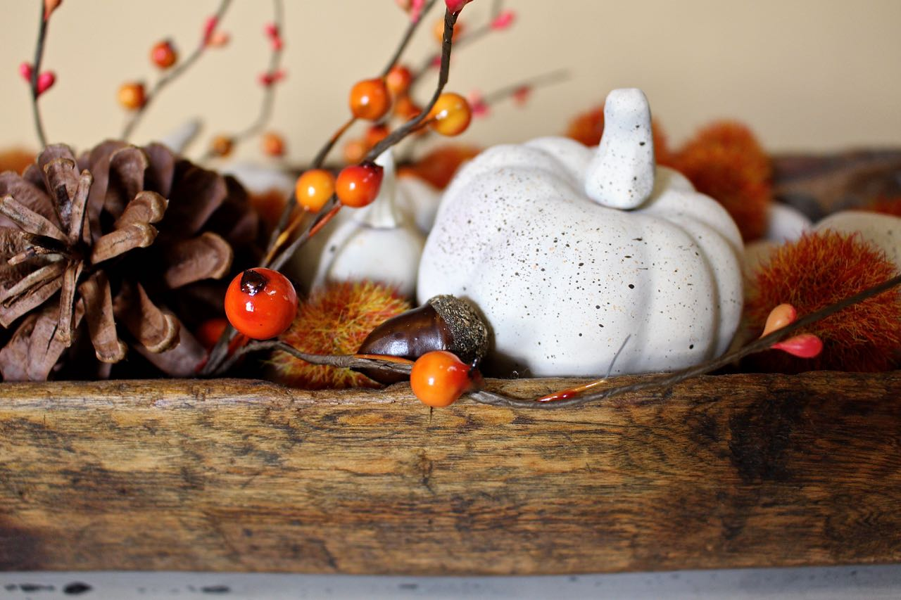 Fall neutral painted mini pumpkins..