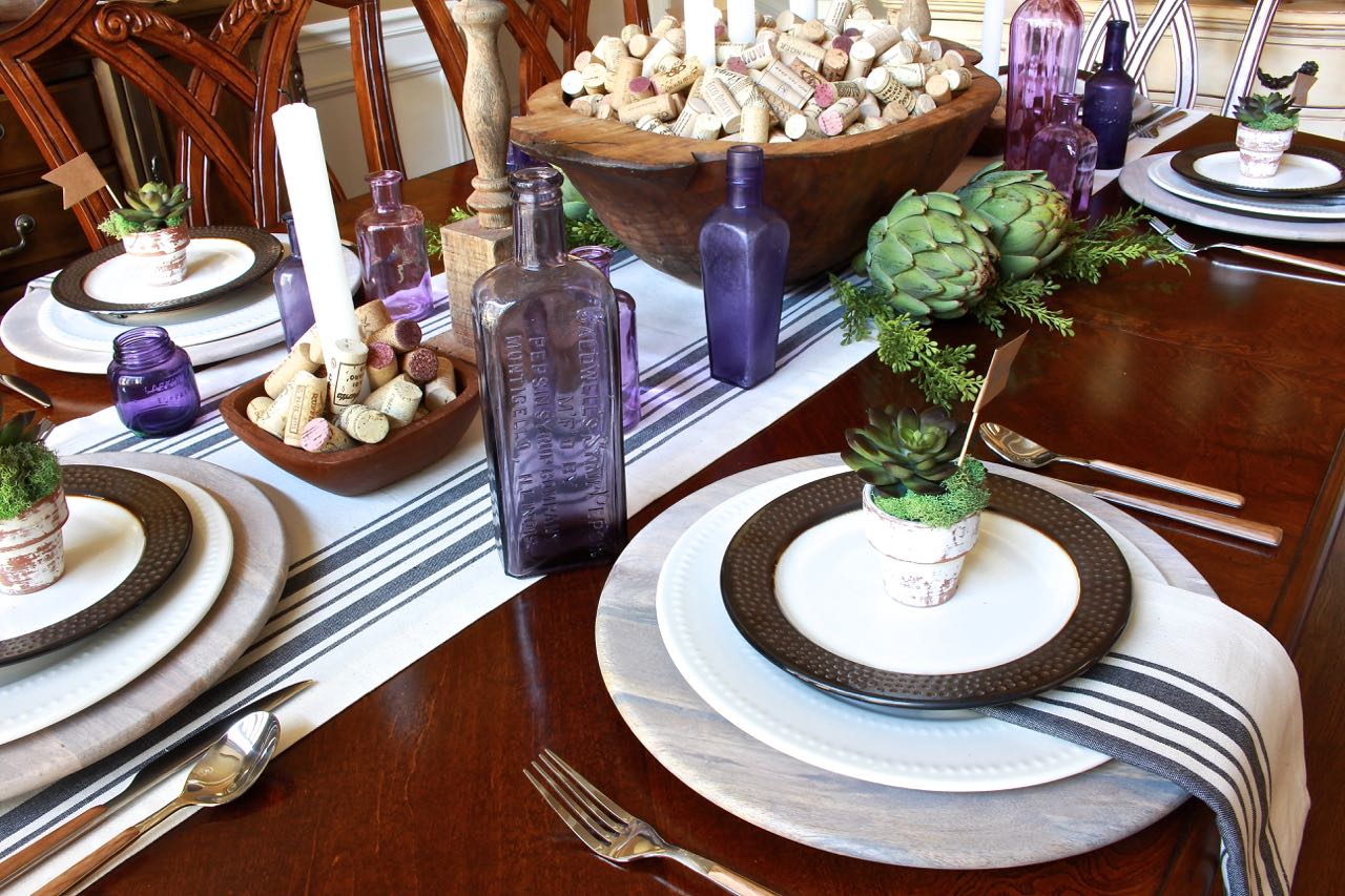 Fall Tablescape Wine Dinner Party