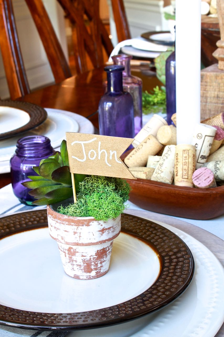 DIY Place Cards for Fall or Thanksgiving.