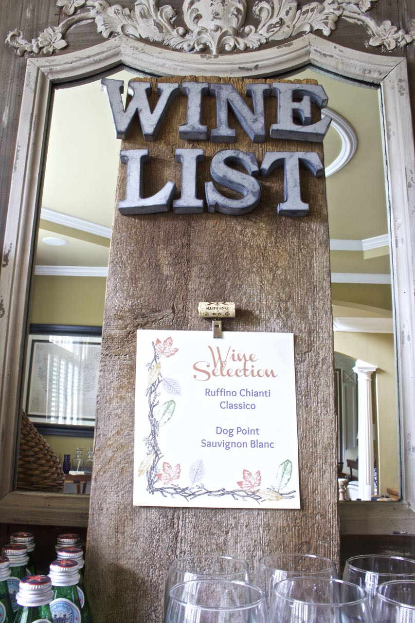 DIY Rustic Wine Sign - galvanized letters, rustic vintage wood, free printables for fall