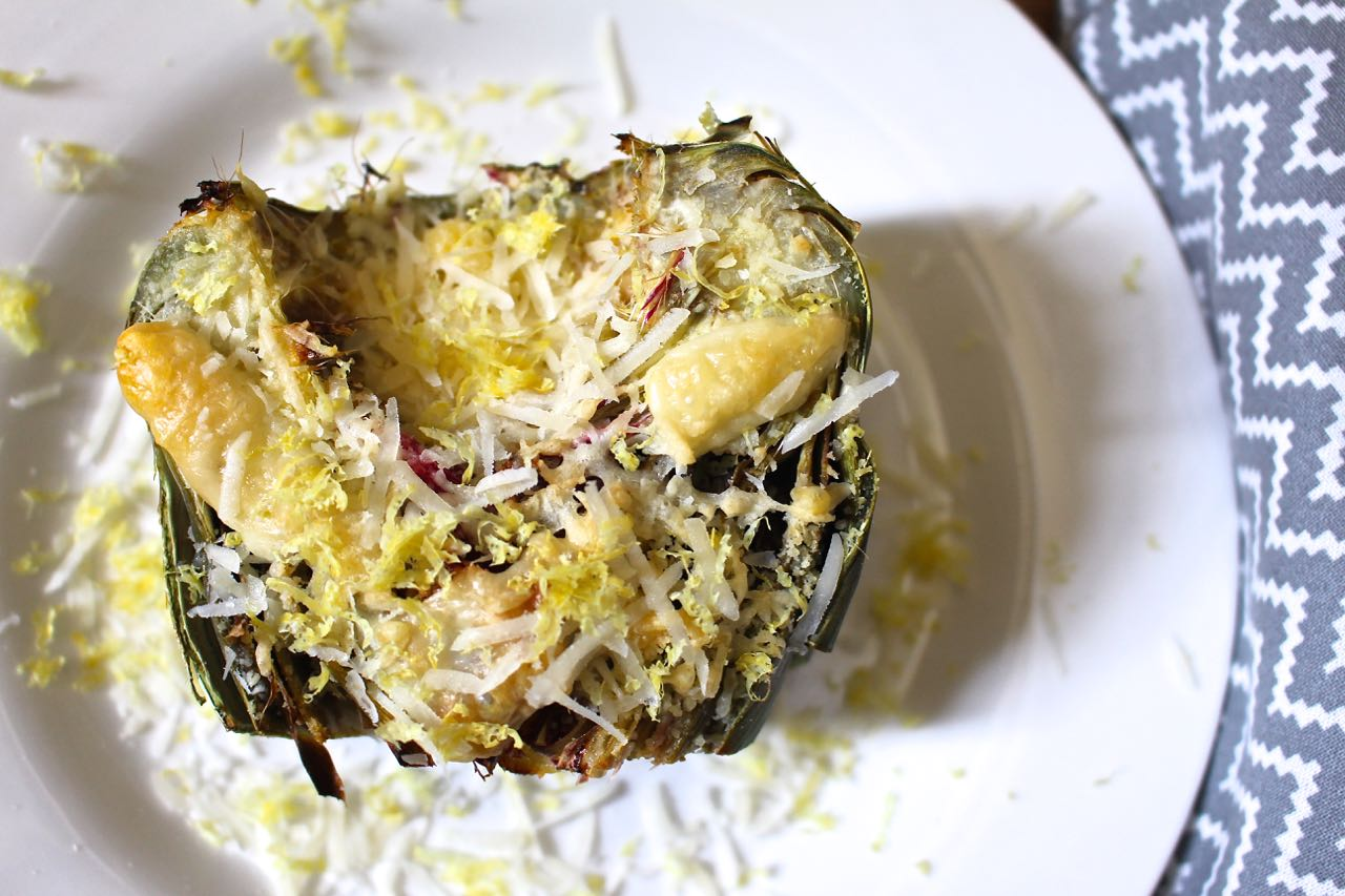 Roasted Artichoke with Parmesan
