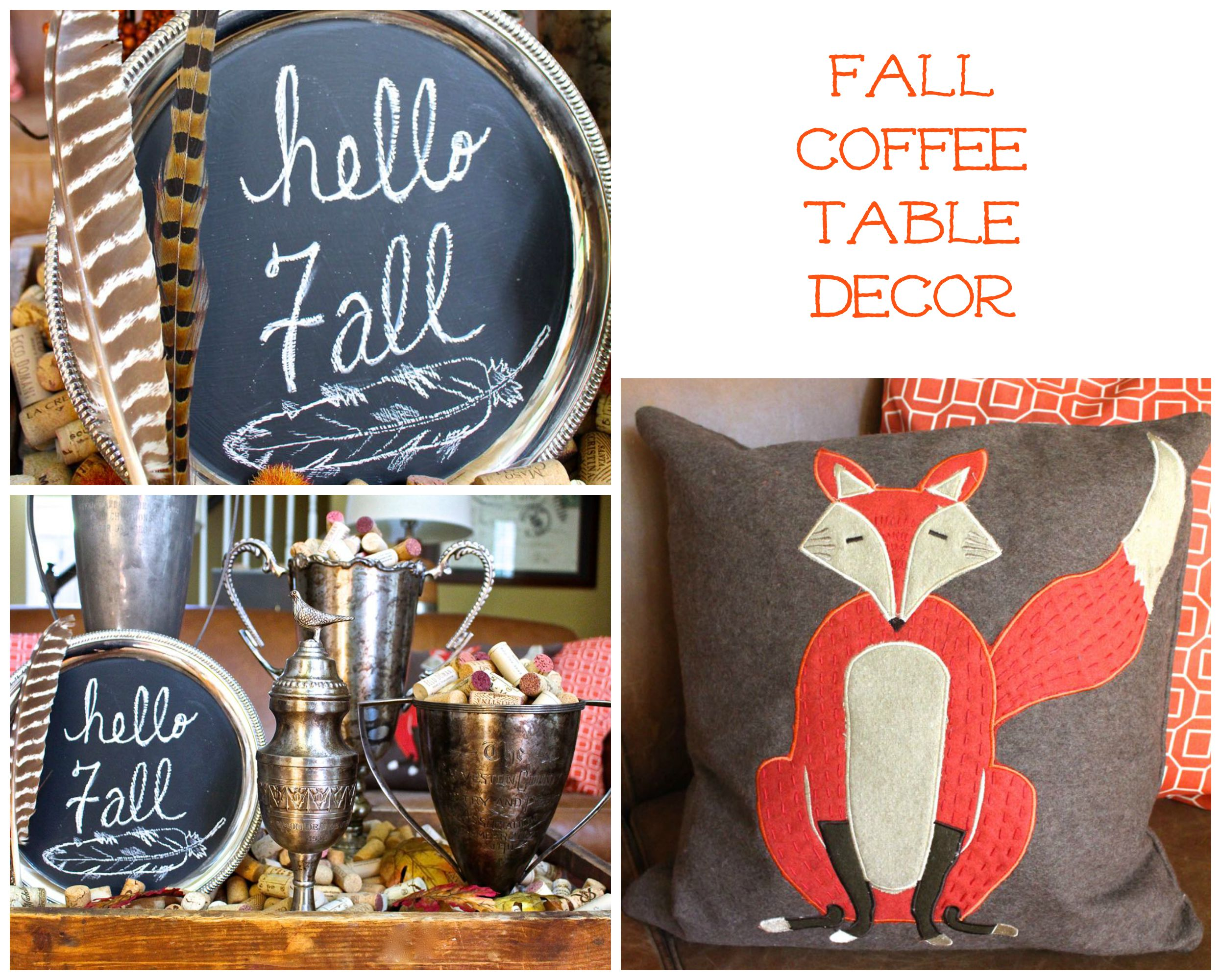 Fall Coffee Table Decor Collage