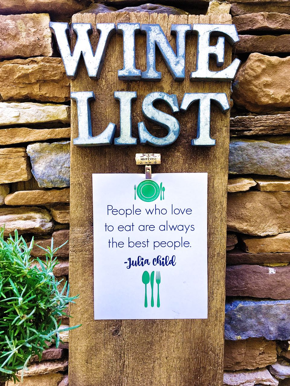DIY Rustic Wine Sign