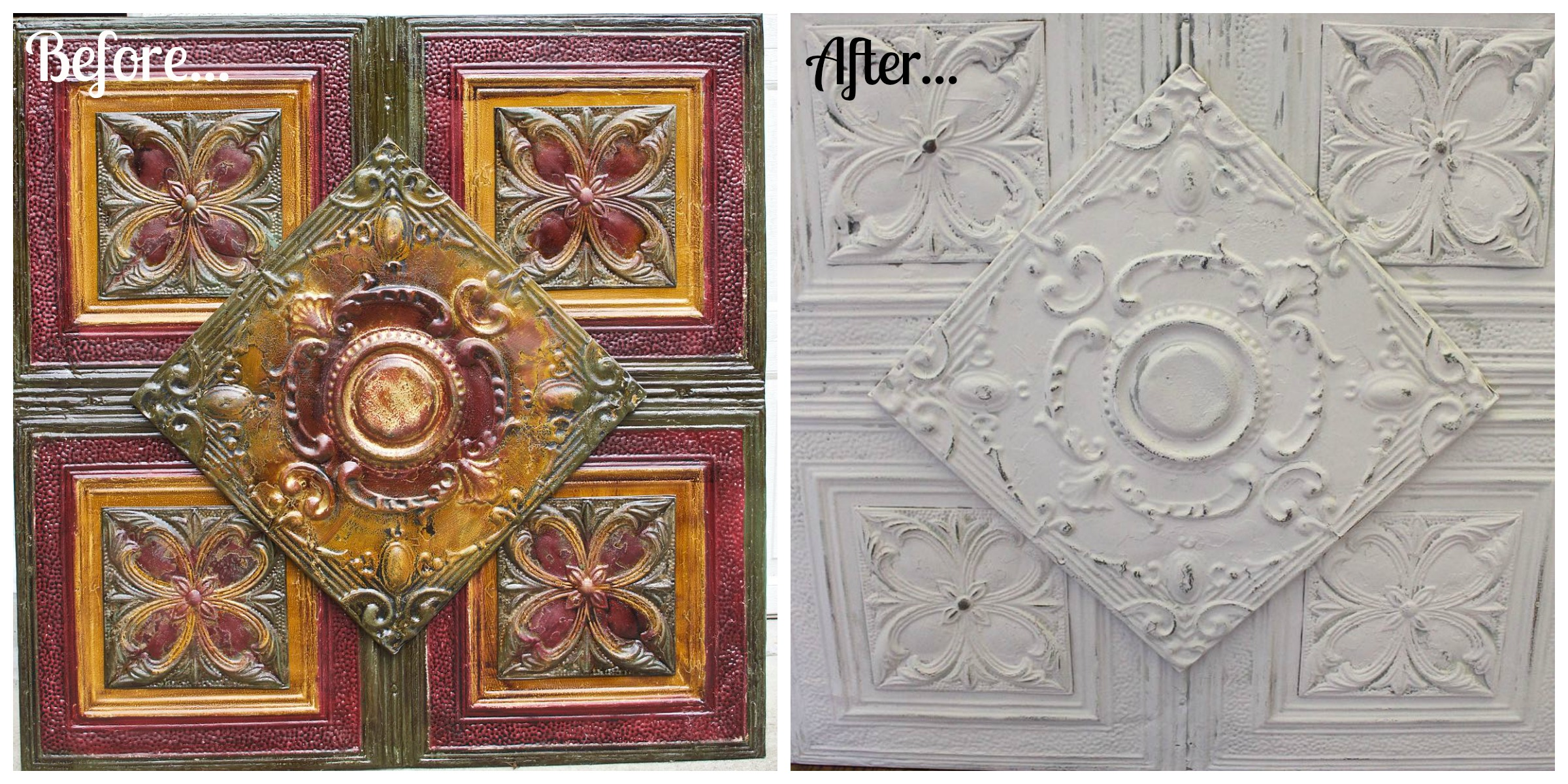 Before - After Tin Collage
