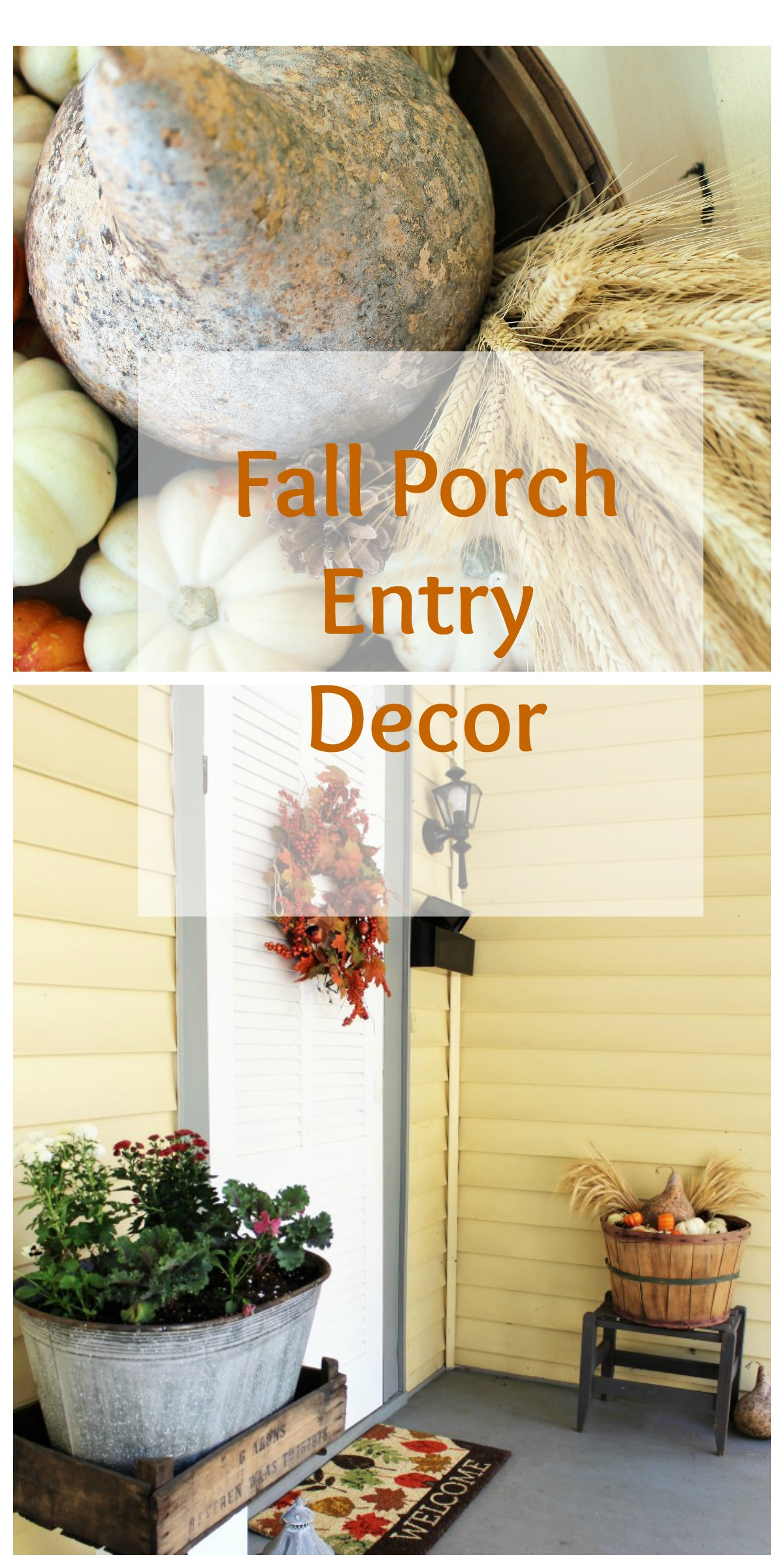 Fall Porch Entry Collage