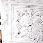 Antique ceiling tin artwork makeover