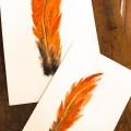 DIY Watercolor Feather