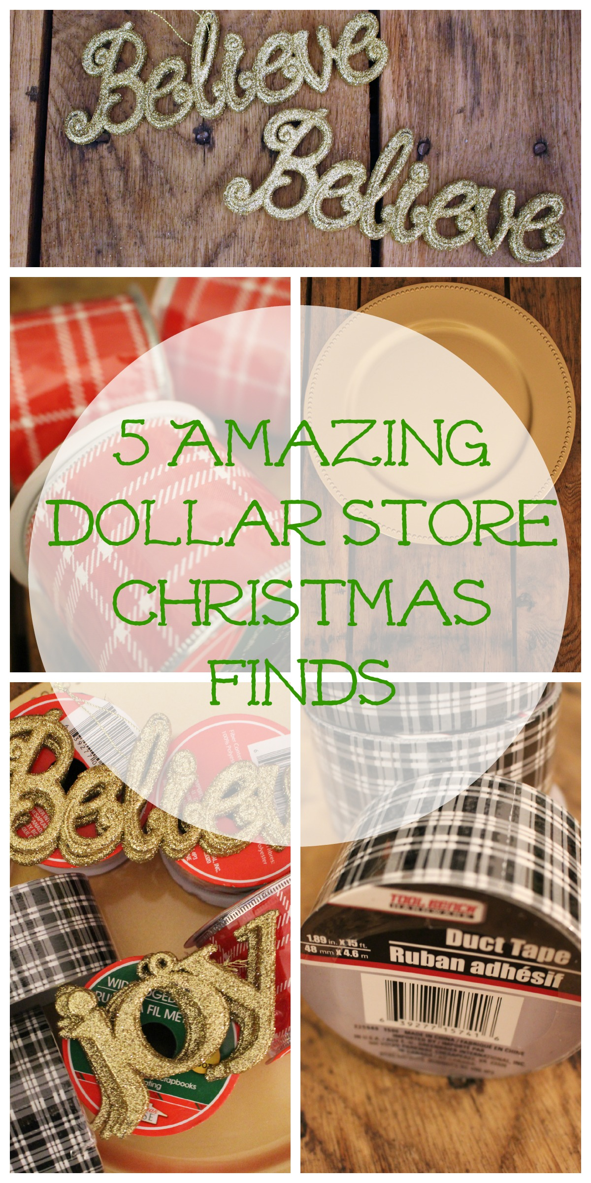 5 amazing dollar tree Collage