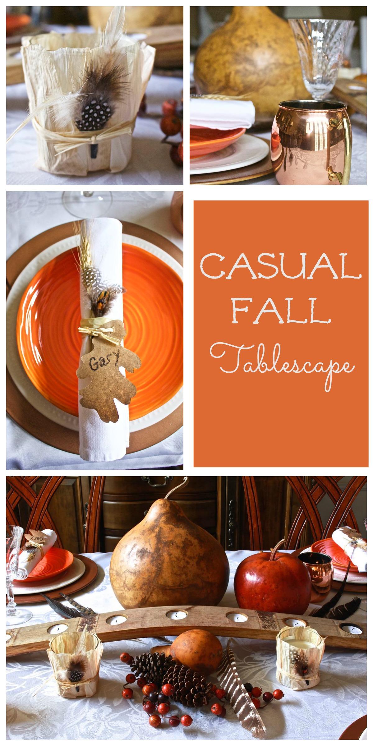 Casual Fall tablescape Collage