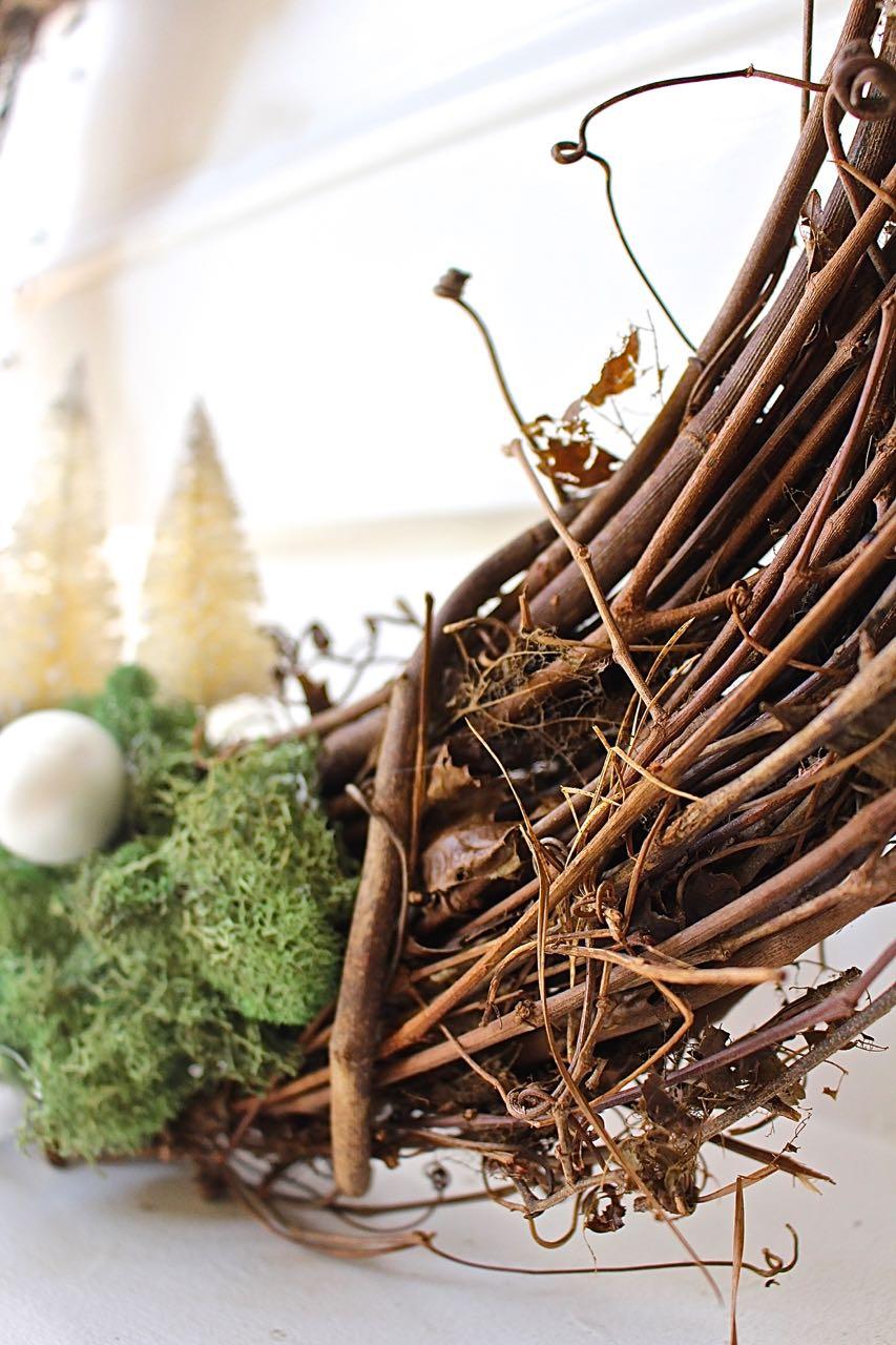 Woodland Moss Grapevine Christmas Wreath