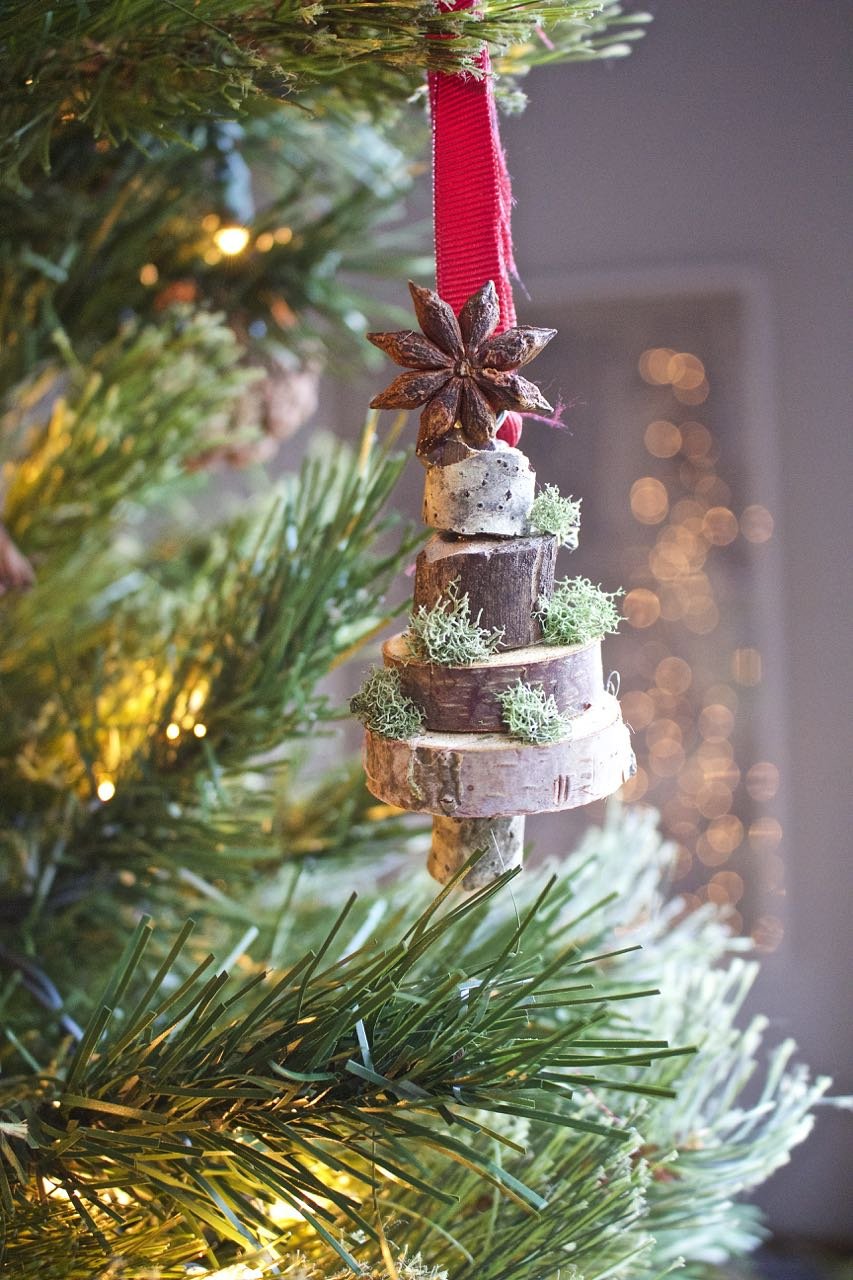 Stacked Stacked Wood Slice Christmas Ornament