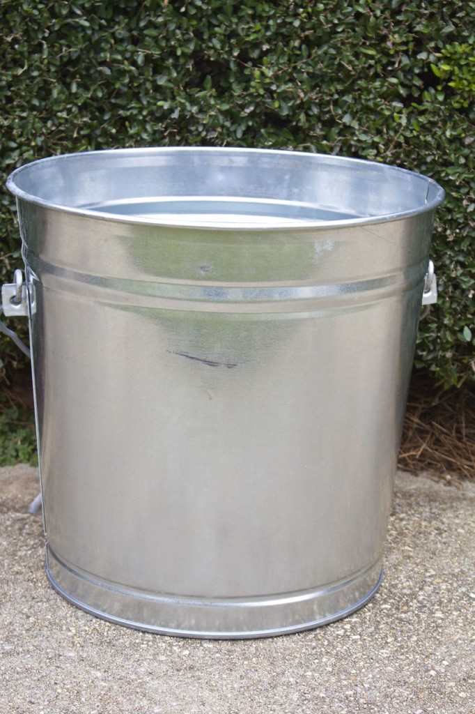 DIY Galvanized Christmas Tree Tub