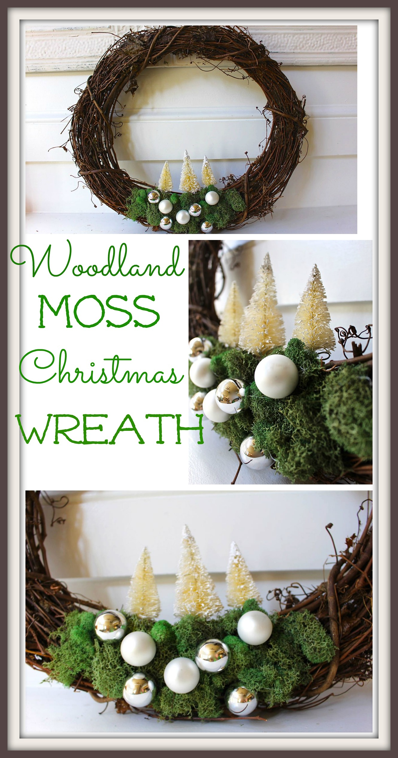 Woodland Moss Christmas Wreath - 2 Bees in a Pod