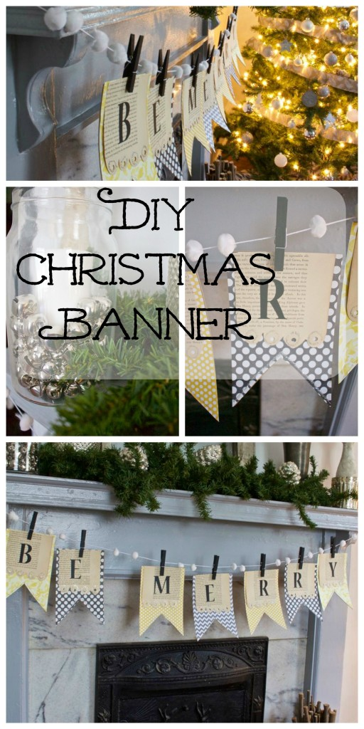 DIY Christmas Mantel Banner