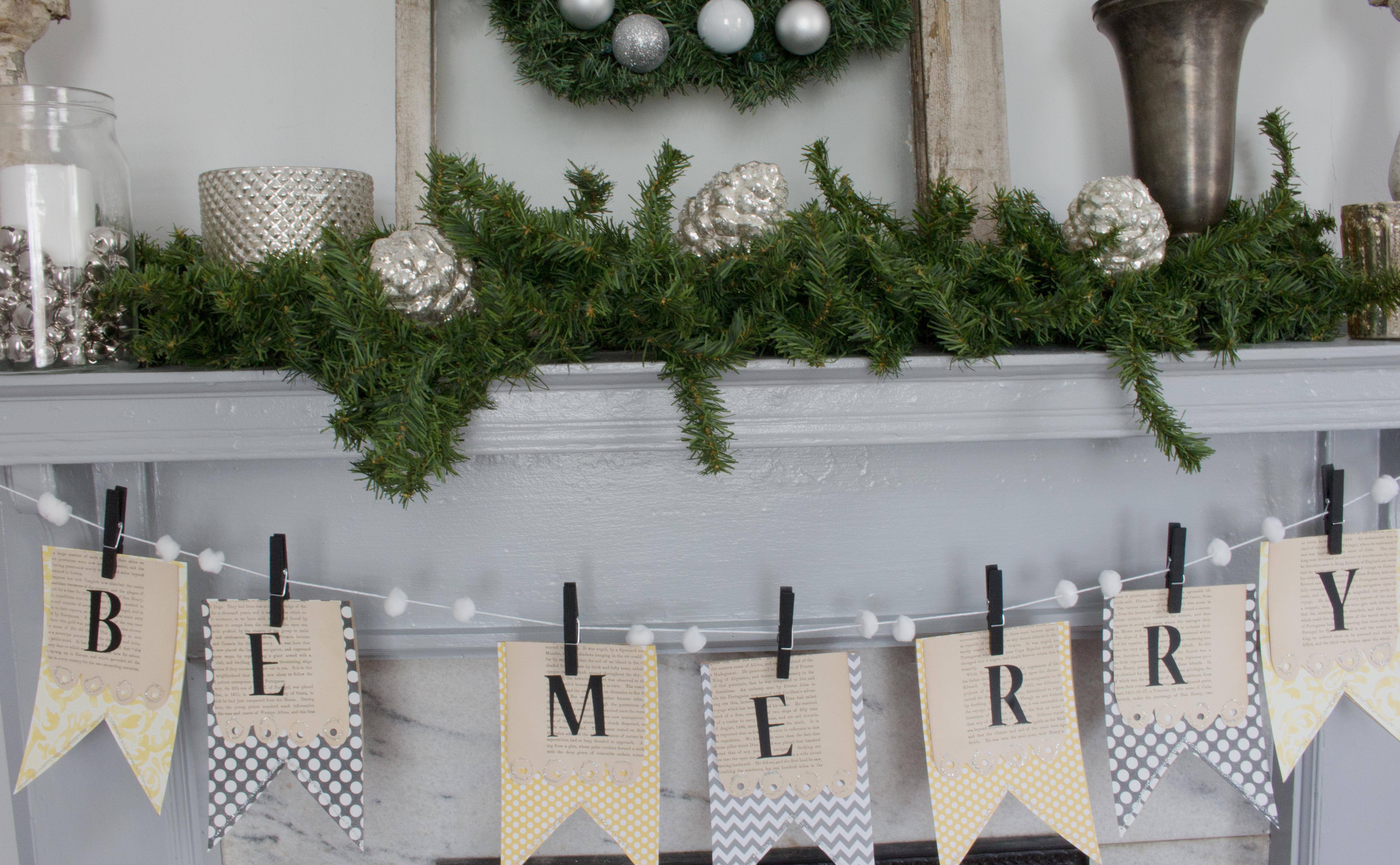 DIY Christmas Banner – Be Merry