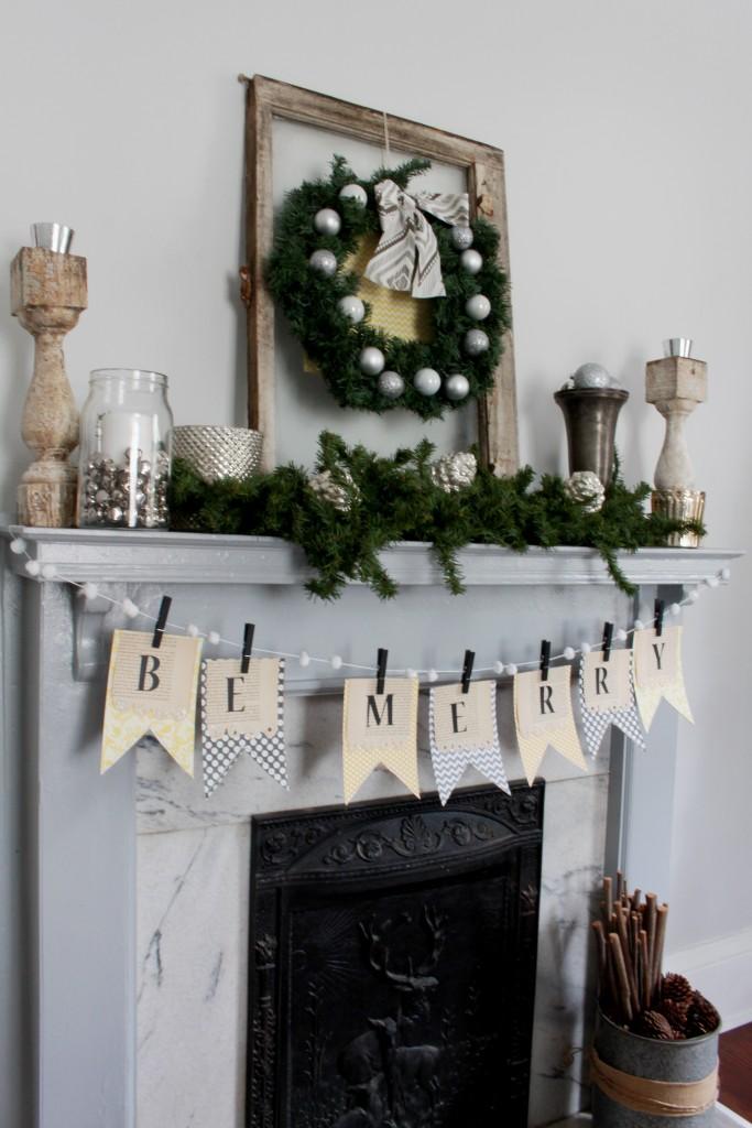 DIY Christmas Mantel Banner