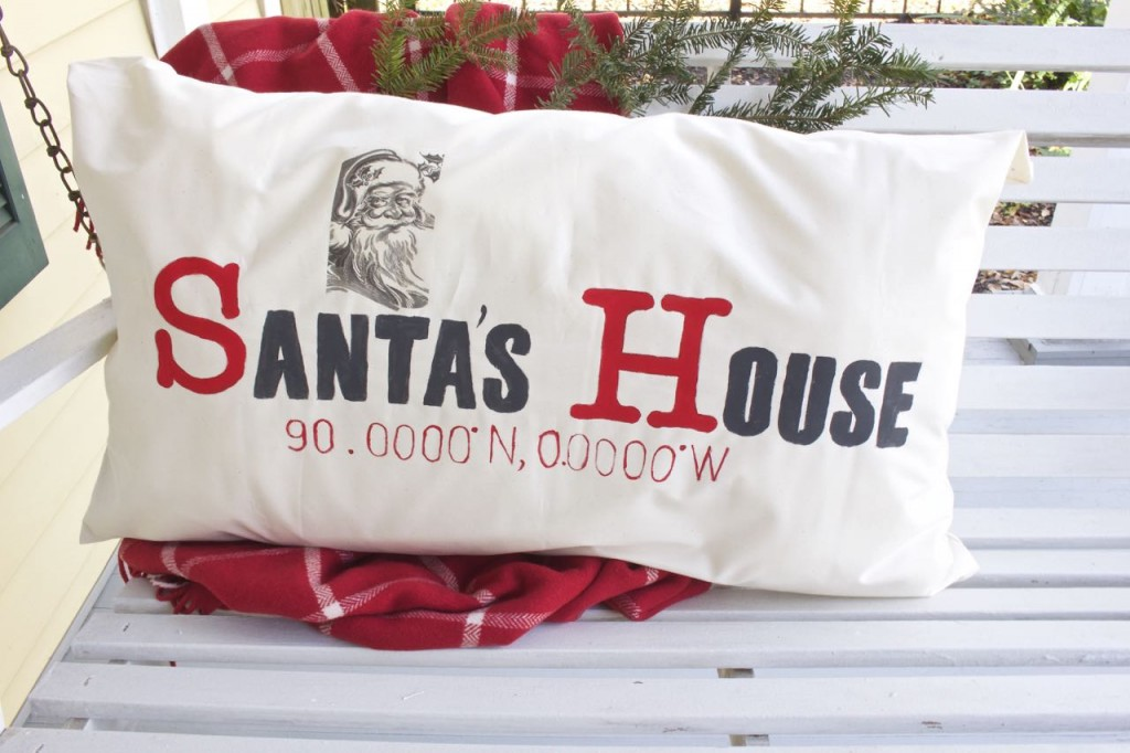 Santa's House DIY Latitude Longitude Pollow