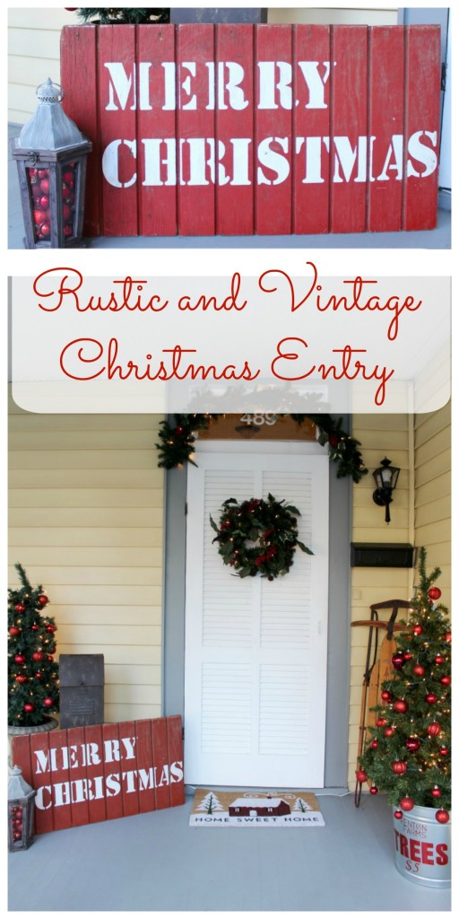 Rustic and Vintage Christmas Entry