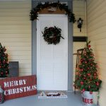 Rustic and Vintage Christmas Entryway