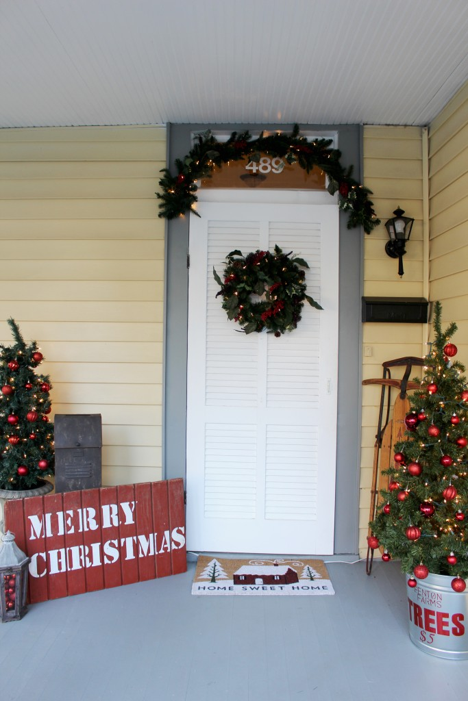 Rustic and Vintage Christmas Entryway 2
