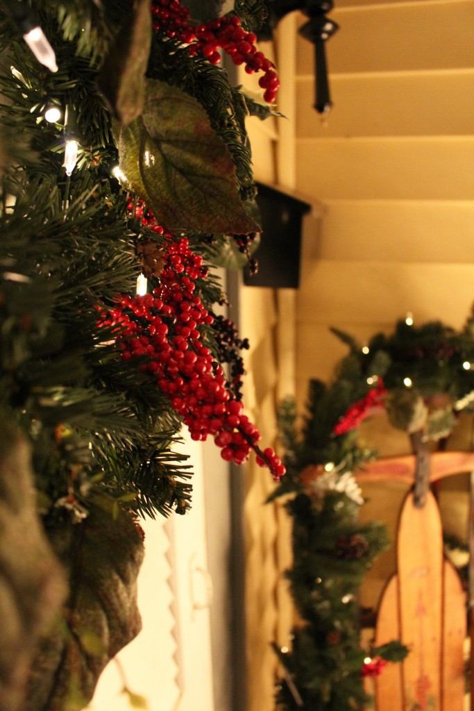 Rustic and Vintage Christmas Entryway 3