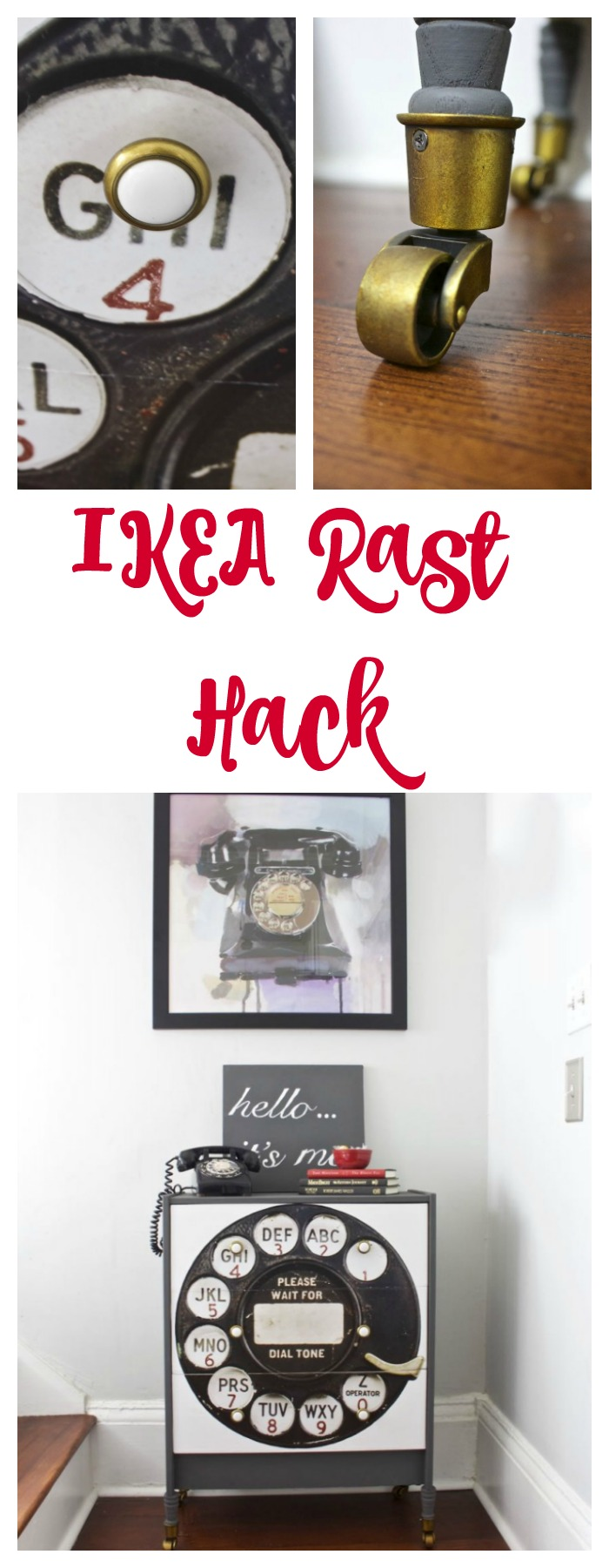 Using paint, hardware, and a poster, we were able to create a unique IKEA Rast Hack. Such a fun DIY project.