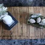 Winter Coffee Table Vignette