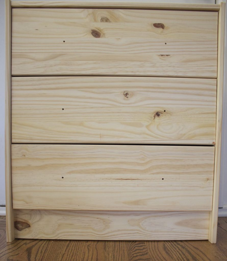 This is a close up of the dresser. Again, it is bare bones and one of IKEA's most popular pieces to redesign.