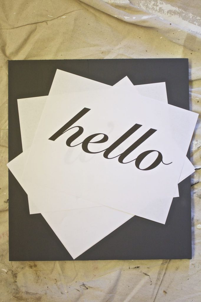 DIY Hand painted sign with Adele quote - Hello...it's me.