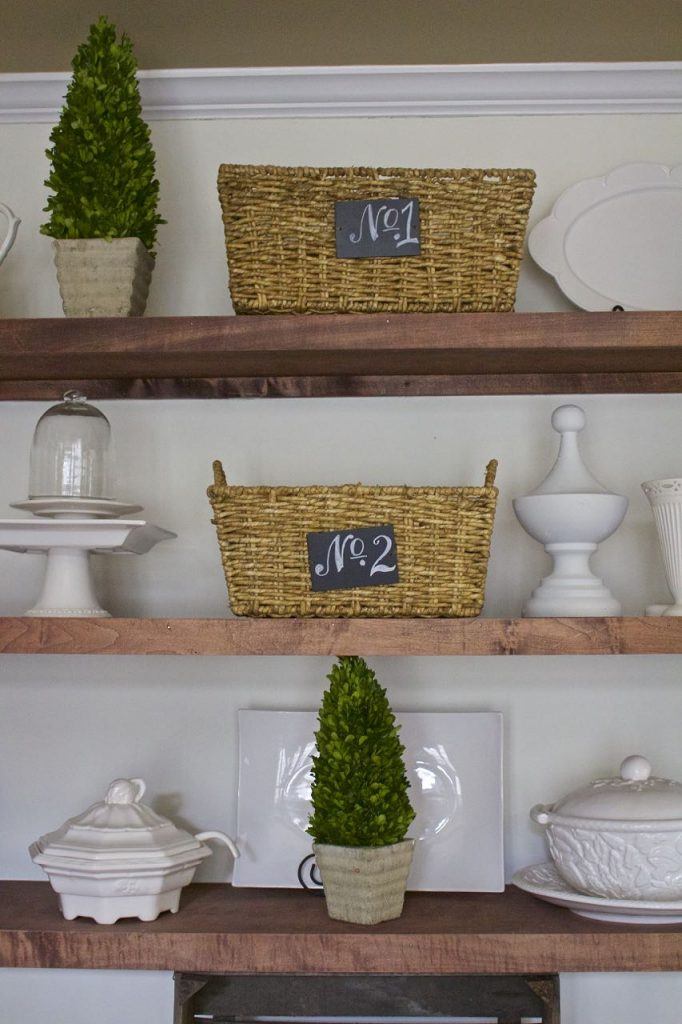 Dining Room Shelf Refresh