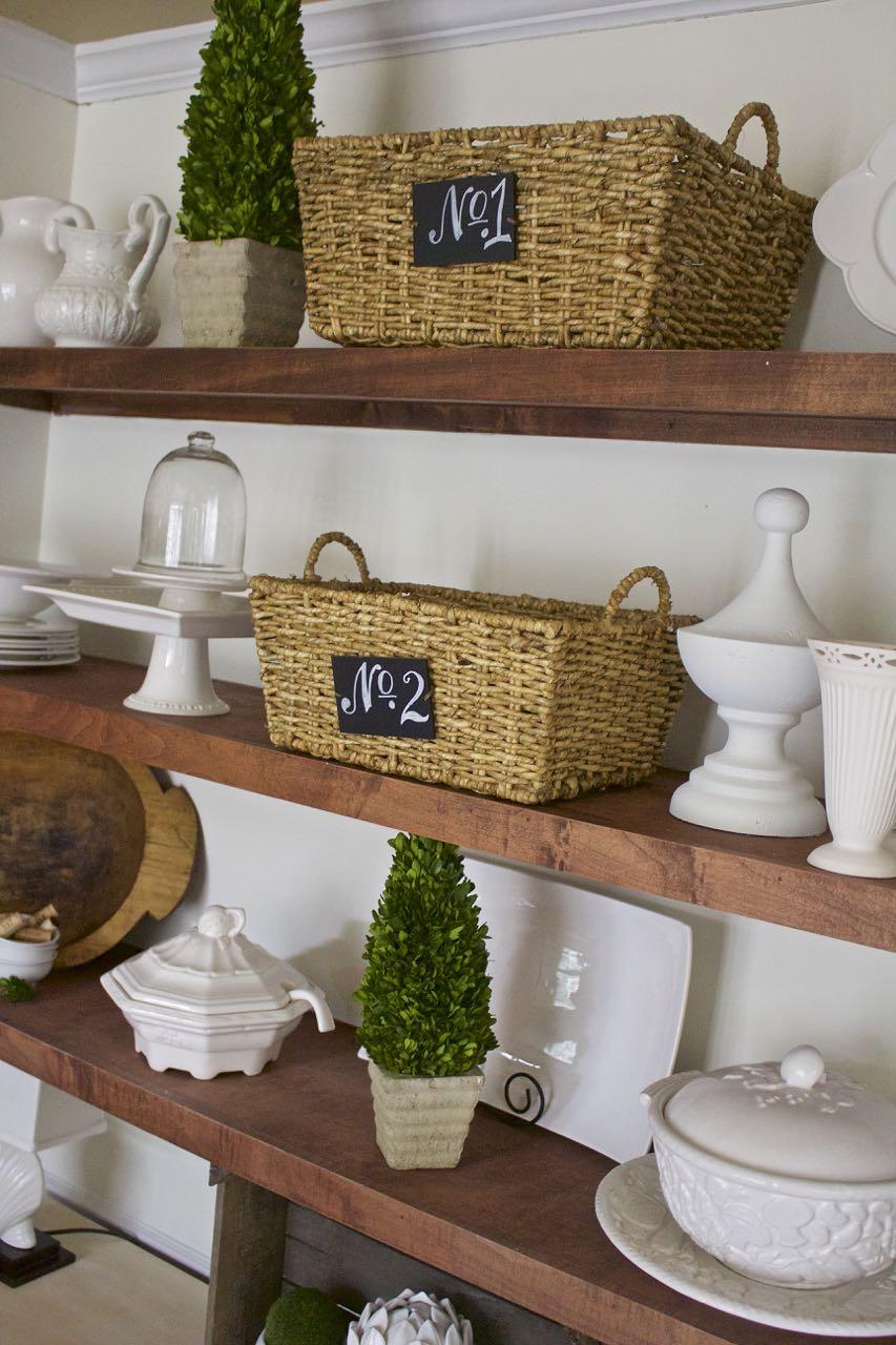 Dining Room Shelf Refresh