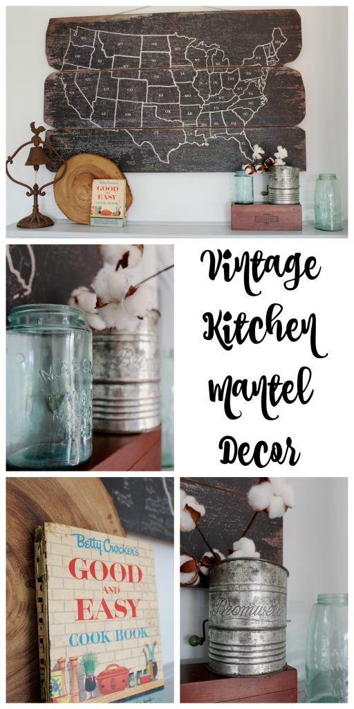 Vintage Kitchen Mantel Decor