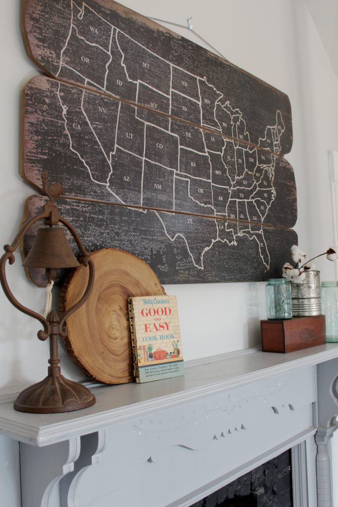 Rustic Kitchen Mantel