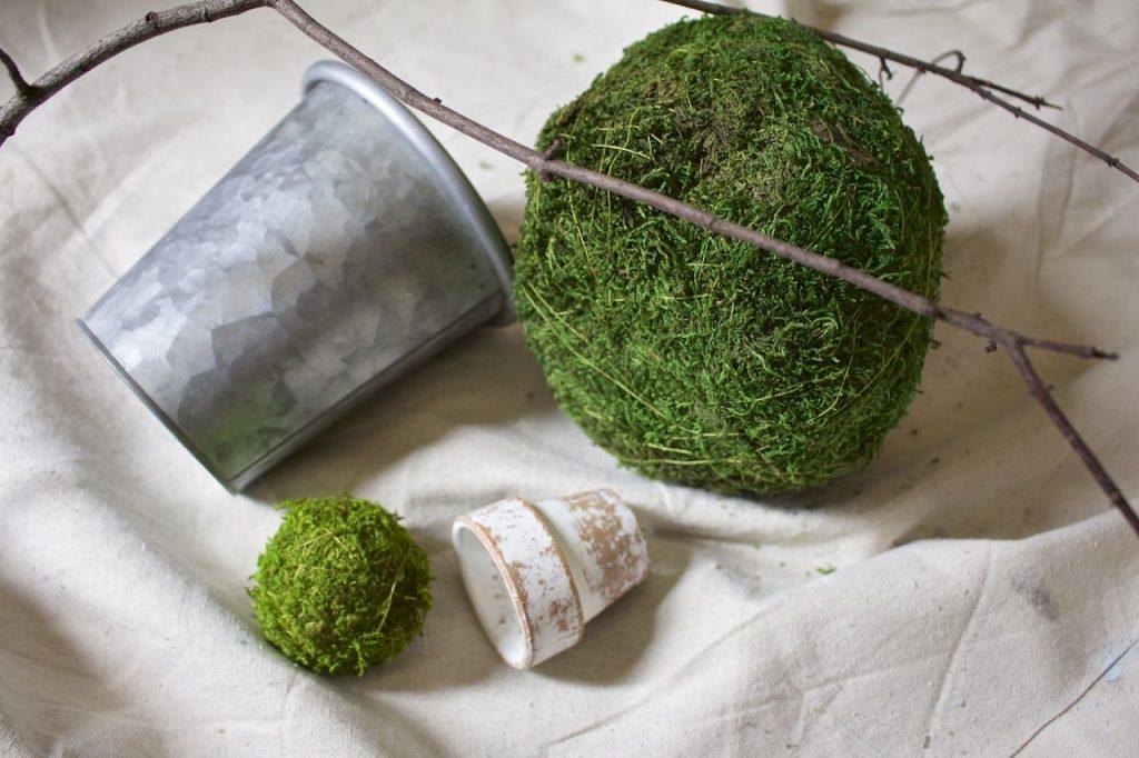 DIY Moss Topiaries in 30 Seconds
