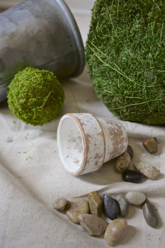 DIY Moss Topiaries in 30 Seconds