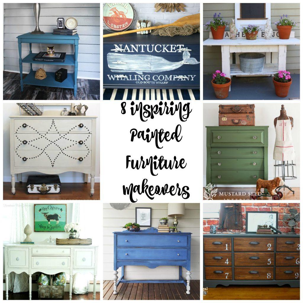 8 Inspiring Furniture Makeovers Collage