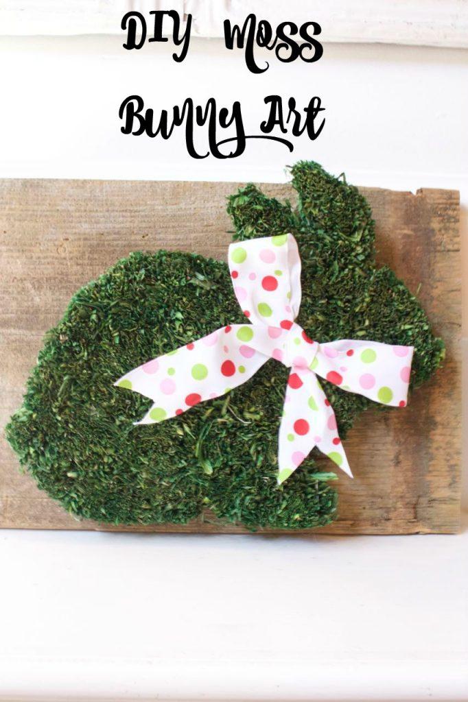 DIY Moss Bunny Art