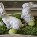 Chalk Painted Bunnies
