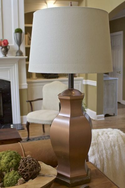 Lamp Makeover from Brass to Copper