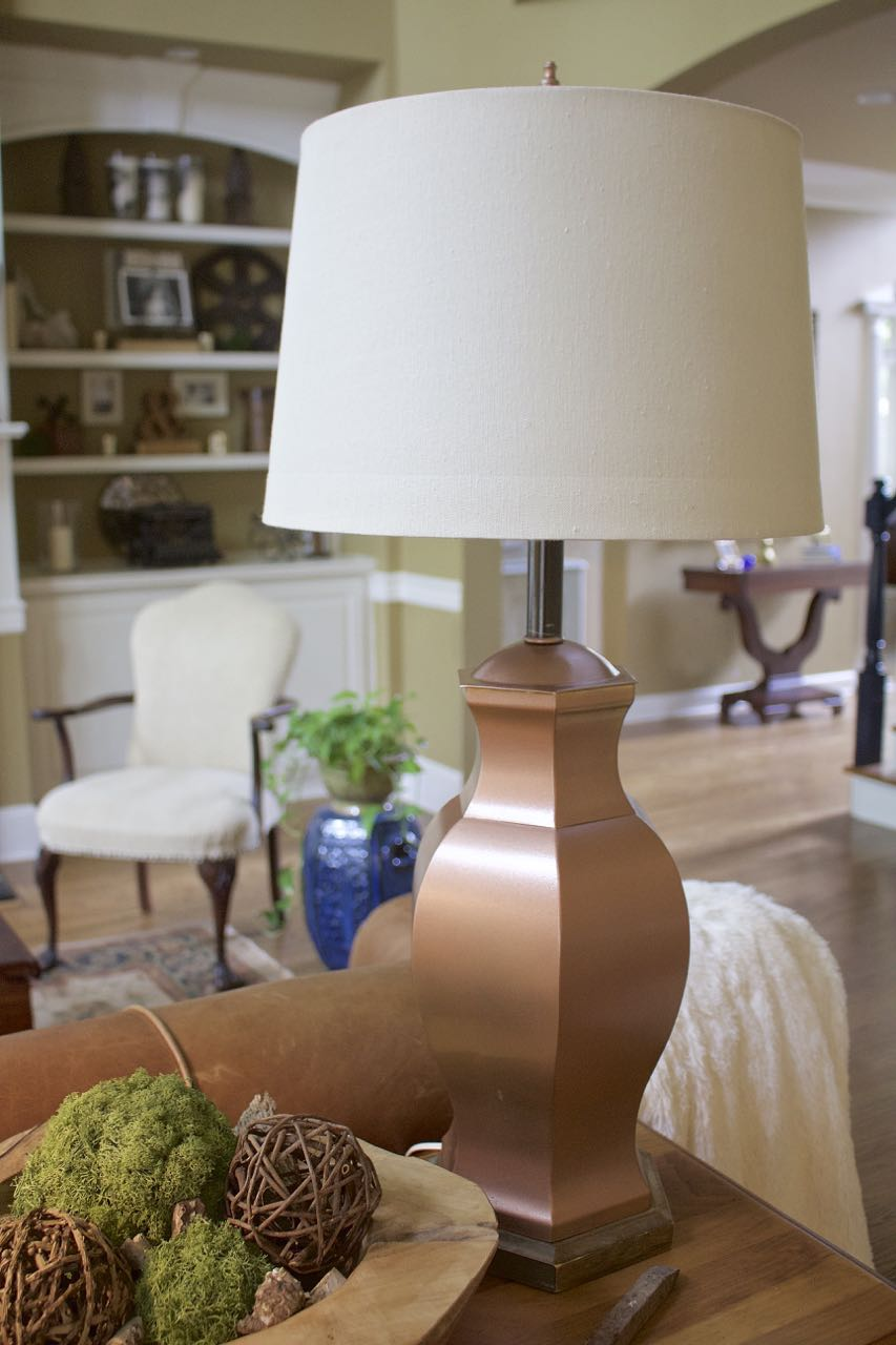 Lamp Makeover From Brass To Copper 2 Bees In A Pod